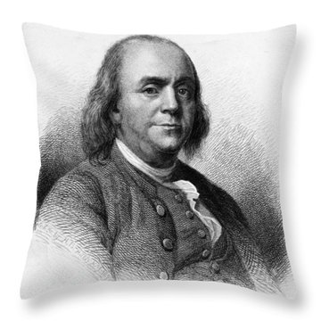 Throw Pillow featuring the photograph Benjamin Franklin by International  Images