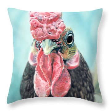 Benny The Bantam Throw Pillow by Baron Dixon