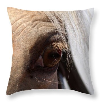Benson Mule Days Throw Pillow by Travis Truelove