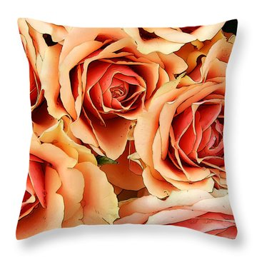 Bergen Roses Throw Pillow