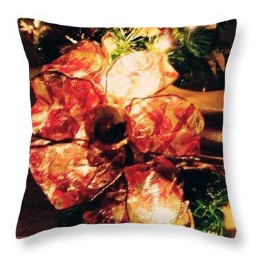 Beribboned #christmas #ribbon Throw Pillow