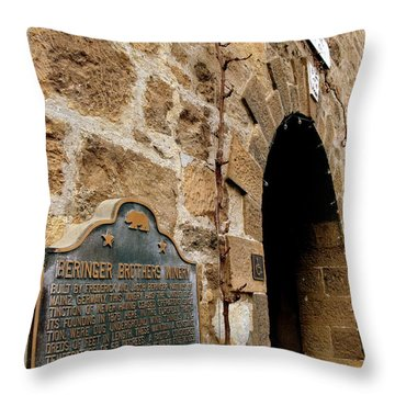 Beringer Winery  Throw Pillow