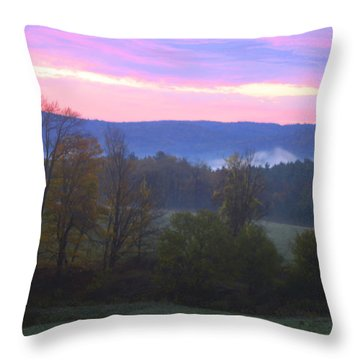 Berkshires Sunrise Throw Pillow by Todd Breitling
