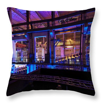 Berlin Powerhouse Event Throw Pillow by Mike Reid
