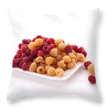 Berries Throw Pillow by Catherine Lau