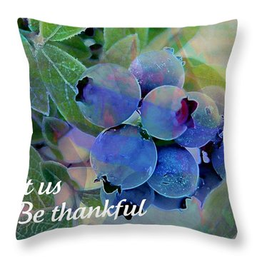 Berry Beautiful Throw Pillow by Shirley Sirois