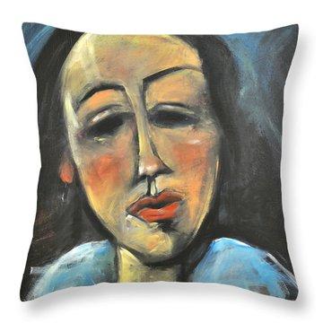 Berthe Lipchitz Revisited Throw Pillow by Tim Nyberg