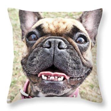 Best Friend Throw Pillow by Jeannette Hunt