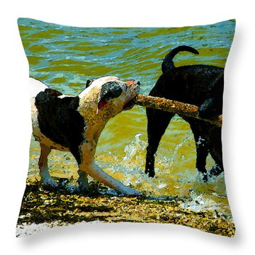 Best Friends Throw Pillow by David Lee Thompson