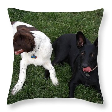 Best Of Friends Throw Pillow by Donna Parlow