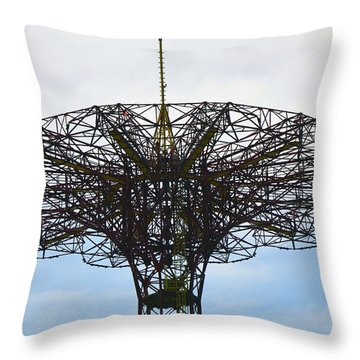 Throw Pillow featuring the photograph Bet You Thought It Was All Red.. by Maureen E Ritter