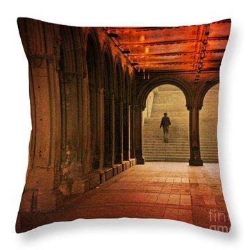 Throw Pillow featuring the photograph Bethesda Passage by Deborah Smith
