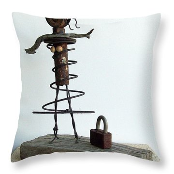 Betty's New Purse Throw Pillow by Snake Jagger