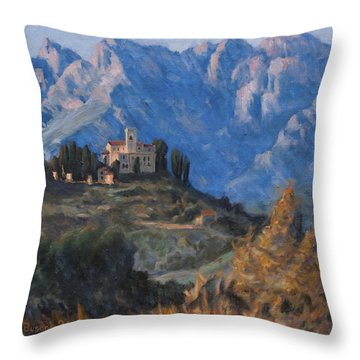 Between Earth And Sky Throw Pillow by Marco Busoni