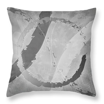 Throw Pillow featuring the digital art Between The Notes by Kenneth Armand Johnson