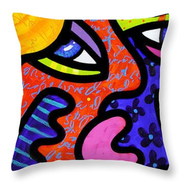 Bev's Beauty Bar Throw Pillow