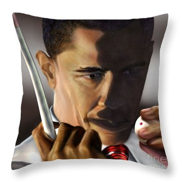 Beyond Sharky Waters Throw Pillow by Reggie Duffie