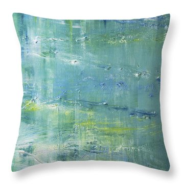 Beyond The Pond Throw Pillow by Dolores  Deal