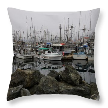 Beyond The Stones Throw Pillow by Bob Christopher