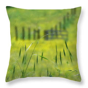 Throw Pillow featuring the photograph Beyond The Weeds by EricaMaxine  Price