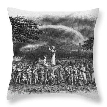 Bible: Jesus, 1833 Throw Pillow by Granger