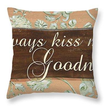 Bienvenue Kiss Throw Pillow