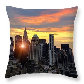 Big Apple Brilliance Throw Pillow by Janet Fikar