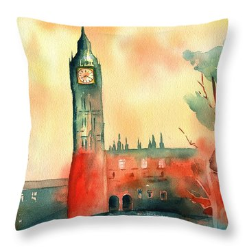 Big Ben    Elizabeth Tower Throw Pillow