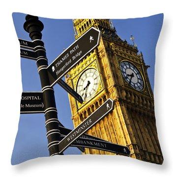 Big Ben Clock Tower Throw Pillow