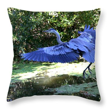 Big Blue In Flight Throw Pillow