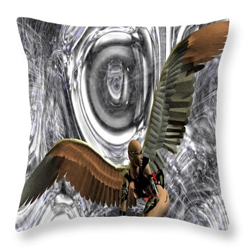 Big Brother Is Watching You Throw Pillow by Matthew Lacey