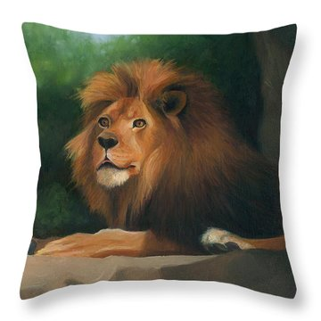 Throw Pillow featuring the painting Big Cat by Joe Winkler