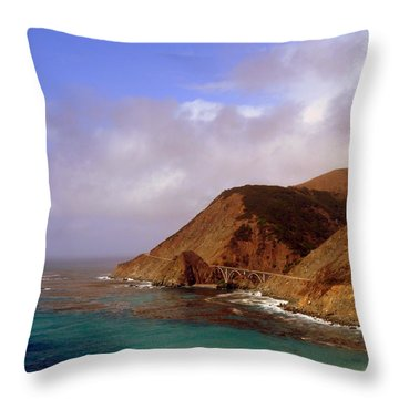Big Creek Bridge Throw Pillow by Jeff Lowe
