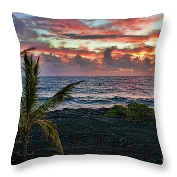 Big Island Sunrise Throw Pillow
