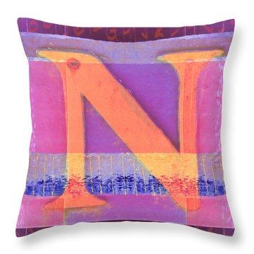 Big Pink N Throw Pillow