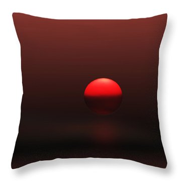 Throw Pillow featuring the photograph Big Red Ball by Deborah Smith