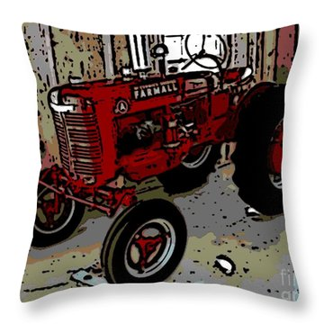 Big Red Throw Pillow by George Pedro