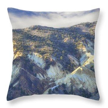 Big Rock Candy Mountains Throw Pillow