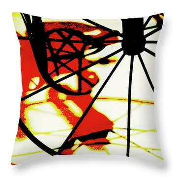 Throw Pillow featuring the photograph Big Wheel by Newel Hunter