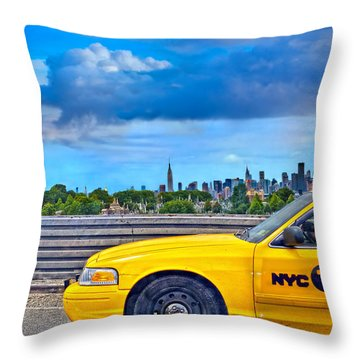 Big Yellow Taxi Throw Pillow