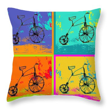 Bike 1b Throw Pillow by Mauro Celotti