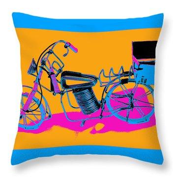 Bike-2c Throw Pillow by Mauro Celotti