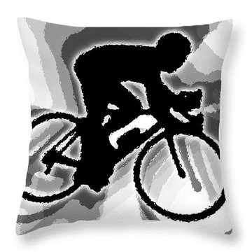 Bike Throw Pillow by Stephen Younts