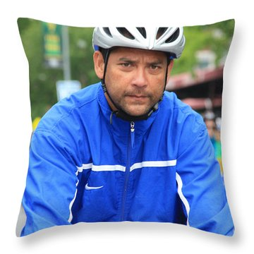 Bike Tour1 Throw Pillow by Terry Wallace