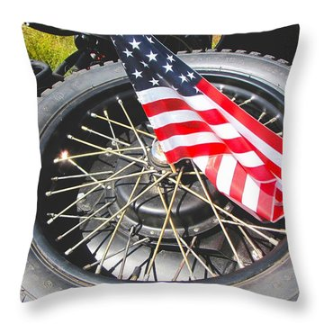 Bikers Care Too Throw Pillow by Feva  Fotos