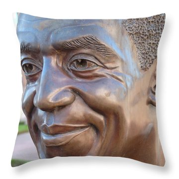 Bill Cosby Bust I Throw Pillow by Jeff Lowe