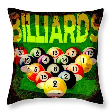 Billiards Abstract Throw Pillow by David G Paul