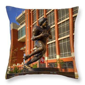 Billy Sims Throw Pillow