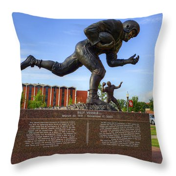 Billy Vessels Throw Pillow