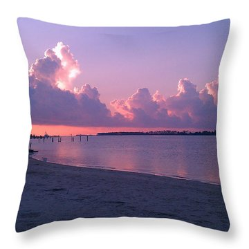 Throw Pillow featuring the photograph Biloxi Sunrise by Brian Wright